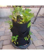 247Garden 7-Gallon Strawberry Fabric Pot +8 Mini Pockets w/Handles