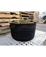 247Garden 100-Gallon Short Aeration Fabric Pot/Vegetable Grow Bag w/Handles (400GSM Black 14H x 46D)