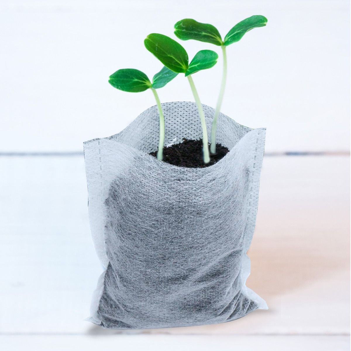 Details about  /Khaki Plant Grow Bags Garden Thickened Non-Woven Aeration Fabric Pots Container