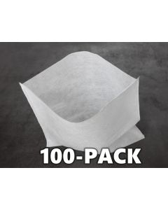 """247Garden 100-Pack 12x12"""" Aeration Seedling Pots/Nursery Fabric Plant Grow Bags (40GSM Non-Woven Eco-Friendly Fabric)"""