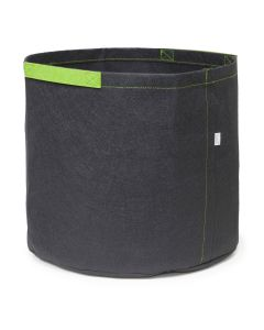 247Garden 3-Gallon Aeration Fabric Pot/Grow Bag w/Short Green Handles (Black 9H x 10D)