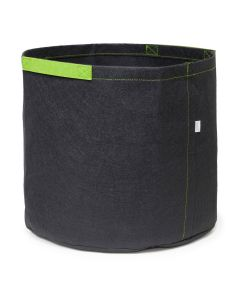 247Garden 7-Gallon Aeration Fabric Pot/Grow Bag w/Short Green Handles (Black 12H x 13D)