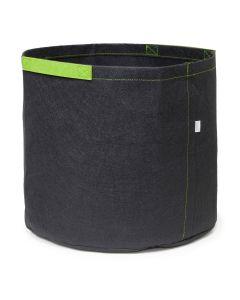 247Garden 25-Gallon Aeration Fabric Pot/Grow Bag w/Short Green Handles (Black 16.5H x 21D)