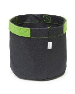 247Garden 1-Gallon Aeration Fabric Pot/Grow Bag w/Short Handles (Black 6H x 7D)