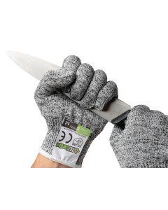 247Garden Level-5 Cut-Resistant Fiberglass Gloves (Pair, Food-Graded, Large)