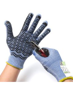 247Garden Level-D Cut-Resistant Stainless Steel-Wire Gardening Gloves w/Grips (Small Pair)