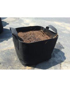 247Garden 100-Gallon Square Aeration Fabric Pot Planting Grow Bag w/Handles (400GSM Black 34 x 34 x 20)