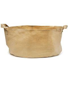 247Garden 100-Gallon Aeration Fabric Pot/Plant Grow Bag w/Handles (400GSM Tan w/Black Base 18H x 40D)