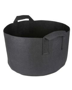 247Garden 10-Gallon Short Aeration Fabric Pot/Vegetable Grow Bag w/Handles (Black 10H x 17D)