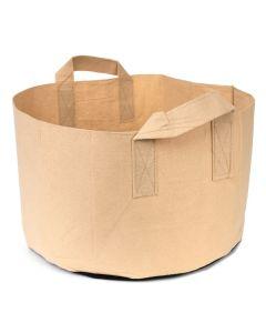 247Garden 3-Gallon Short Aeration Fabric Pot/Vegetable Grow Bag w/Handles (Tan 7H x 11.5D)