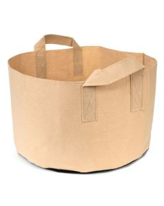 247Garden 10-Gallon Short Aeration Fabric Pot/Vegetable Grow Bag w/Handles (Tan 10H x 17D)