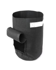 247Garden 15-Gallon Potato Grow Bag/Aeration Fabric Pot w/Handles & Flap Door for Easy Harvesting (Black 21H x 14.5D)