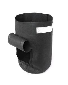 247Garden 7-Gallon Potato Grow Bag/Aeration Fabric Pot w/Handles & Flap Door for Easy Harvesting (Black 17H x 11D)