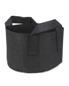247Garden 1-Gallon Short Aeration Fabric Pot/Vegetable Grow Bag w/Handles (Black 5H x 8D)