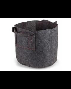247Garden 1-Gallon Aeration Fabric Pot/Plant Grow Bag w/Handles (Grey 6H x 7D)