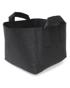 247Garden 1-Gallon Square Aeration Fabric Pot Planting Grow Bag w/Handles (Black 6.5 x 6.5 x 5.5)
