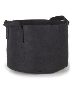 247Garden 15-Gallon Aeration Fabric Pot/Plant Grow Bag w/Handles (Black 14.5H x 17D)