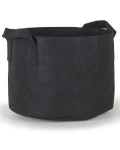 247Garden 25-Gallon Aeration Fabric Pot/Plant Grow Bag w/Handles (Black 16.5H x 21D)