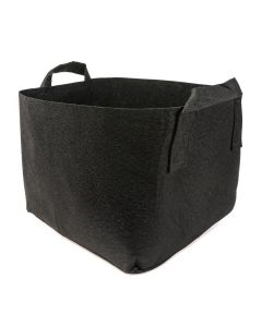 247Garden 50-Gallon Square Aeration Fabric Pot Planting Grow Bag (400GSM Black w/Handles 25 x 25 x 18)