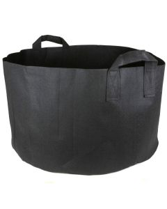 247Garden 25-Gallon Short Aeration Fabric Pot/Vegetable Grow Bag w/Handles (Black 14H x 23D)