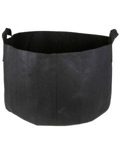247Garden 25-Gallon Short Aeration Fabric Pot/Vegetable Grow Bag w/Handles (Black 14H x 23D)
