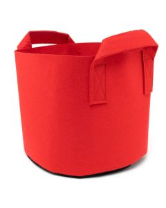 247Garden 2-Gallon Red Aeration Fabric Pot/Plant Grow Bag w/Handles & Black Base 8.5D x 7.5H