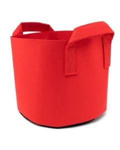 247Garden 3-Gallon Red Aeration Fabric Pot/Plant Grow Bag w/Handles + Black Base 10D x 9H