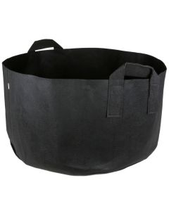 247Garden 30-Gallon Short Aeration Fabric Pot/Vegetable Grow Bag w/Handles (Black 13H x 26D)