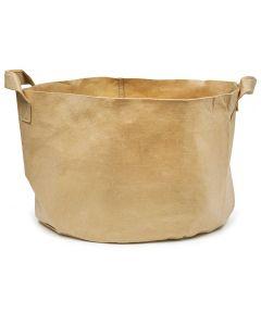 247Garden 30-Gallon Aeration Fabric Pot/Plant Grow Bag w/Handles (Tan w/Black Base 15.5H x 24D)