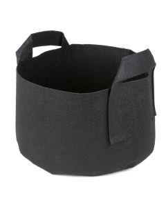 247Garden 2-Gallon Short Aeration Fabric Pot/Vegetable Grow Bag w/Handles (Black 6H x 10D)