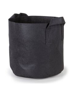 247Garden 4-Gallon Aeration Fabric Pot/Plant Grow Bag w/Handles (Black 10H x 11D)