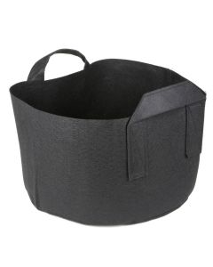 247Garden 4-Gallon Short Aeration Fabric Pot/Vegetable Grow Bag w/Handles (Black 8H x 12D)