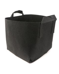 247Garden 6-Gallon Square Aeration Fabric Pot Planting Grow Bag w/Handles (Black 11 x 11 x 11)