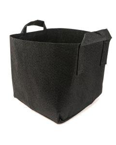 247Garden 4-Gallon Square Aeration Fabric Pot Planting Grow Bag w/Handles (Black 9.7 x 9.7 x 9.7)