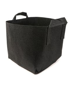 247Garden 7-Gallon Square Aeration Fabric Pot Planting Grow Bag w/Handles (Black 12.5 x 12.5 x 10.5)