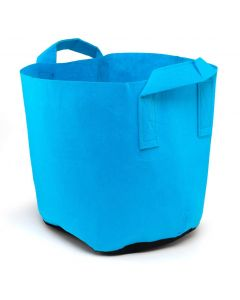247Garden 7-Gallon Blue Aeration Fabric Pot/Plant Grow Bag w/Handles + Black Base 13D x 12H