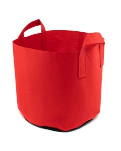 247Garden 5-Gallon Red Aeration Fabric Pot/Plant Grow Bag w/Handles + Black Base 12D x 10H