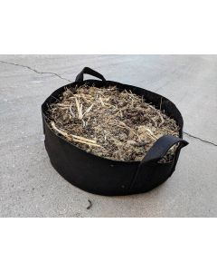 247Garden 100-Gallon Round Aeration Fabric Pot Grow Bed/Raised Garden w/Handles (260GSM Black 14H x 46D)