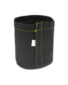 247Garden 1/2-Gallon Transplanter Fabric Pot w/Velcro Closure & Short Green Handles (Black 6H x 5D)