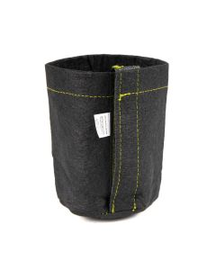 247Garden 1/4-Gallon Transplanter Fabric Pot w/Velcro Closure & Short Green Handles (Black 5H x 4D)