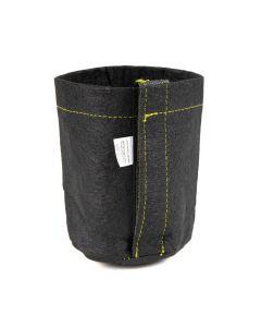 247Garden 1/4-Gallon Transplanter Fabric Pot w/Velcro Closure & Short Green Handles (Black 5H x 4D)