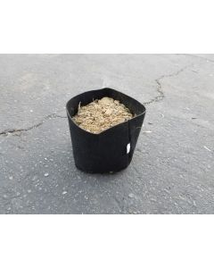 247Garden 1/4 Gallon Square Aeration Fabric Pot Planting Grow Bag (Black 3.8 x 3.8 x 4)