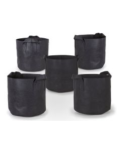 247Garden 3-Gallon Aeration Fabric Pot/Plant Grow Bag w/Handles (Black 9H x 10D) 5-Pack w/Free Shipping in the USA