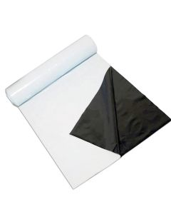 247Garden Panda Film 10X100 FT 5.5 Mil Black and White Poly Film for Hydroponics and Greenhouse