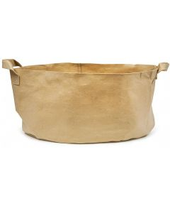 247Garden 200-Gallon Aeration Fabric Pot/Plant Grow Bag w/Handles (400GSM Tan w/Black Base 24H x 50D)