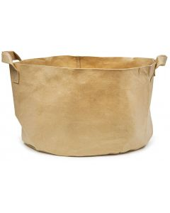 247Garden 40-Gallon Aeration Fabric Pot/Plant Grow Bag w/Handles (Tan w/Black Base 17H x 26.5D)