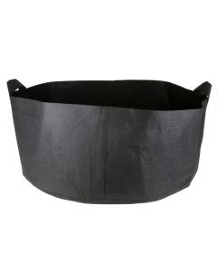 247Garden 65-Gallon Short Aeration Fabric Pot/Plant Grow Bag w/Handles (300GSM Black 13H x 38.5D)