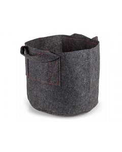 247Garden 6-Gallon Aeration Fabric Pot/Plant Grow Bag w/Handles (Grey 10.5H x 13D)